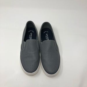 Sperry Perforated Gray Loafers Size 7